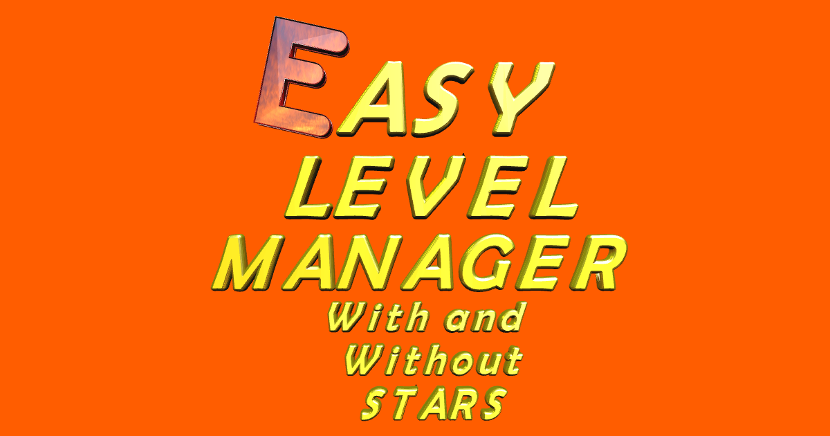 Easy Level Manager With And Without Stars Option