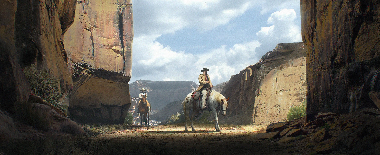 Through the canyon