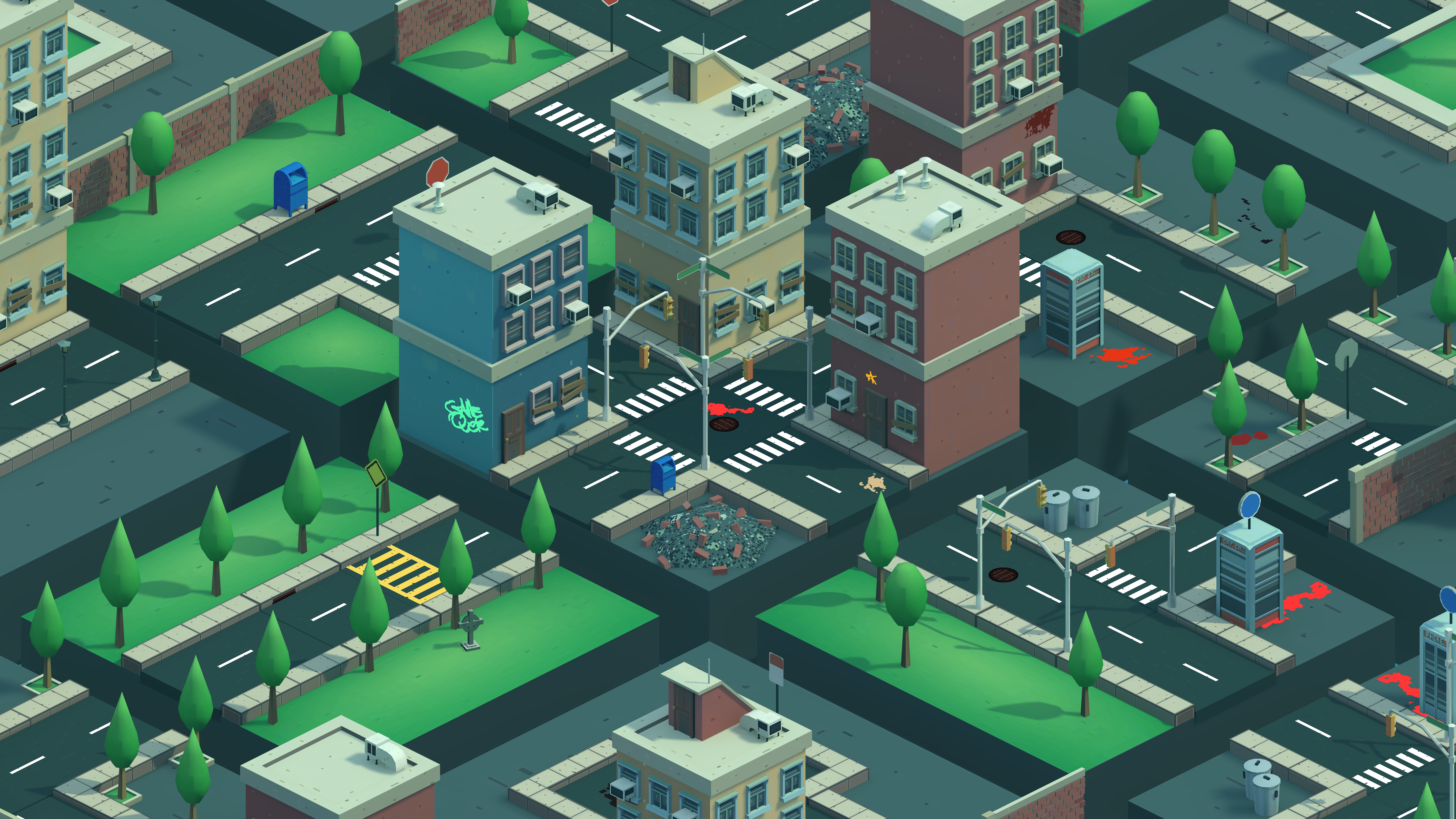 Low Poly Iso City