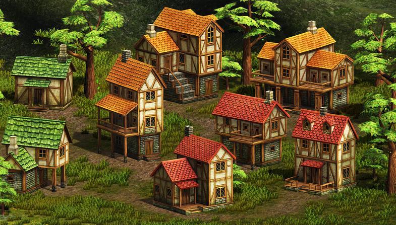 Houses for fantasy village