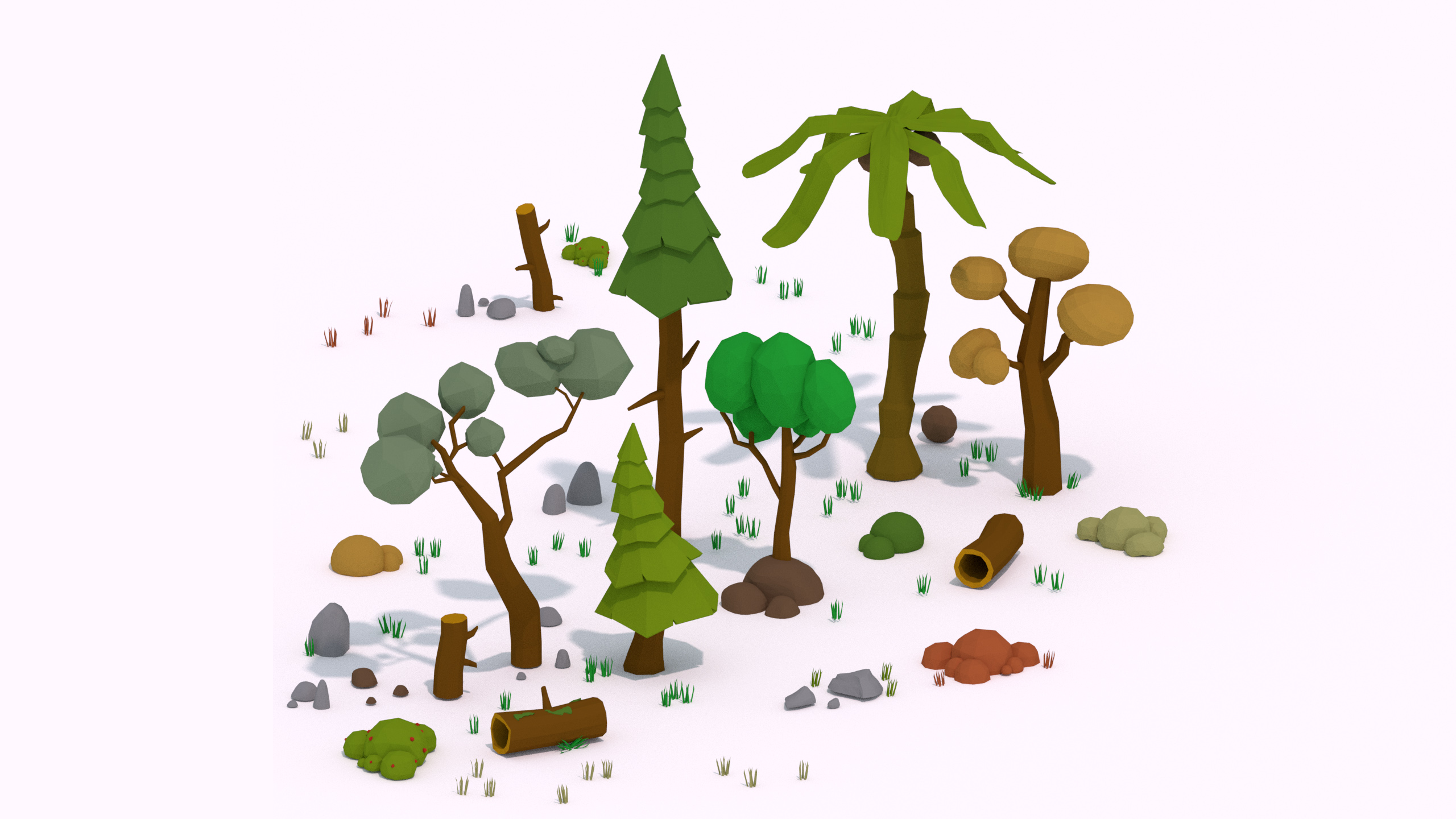 PROJECT: Low Poly - Trees and Foliage