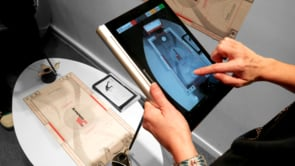 Lenovo Yoga tablets with Augmented Reality Multiplayer Air Hockey app