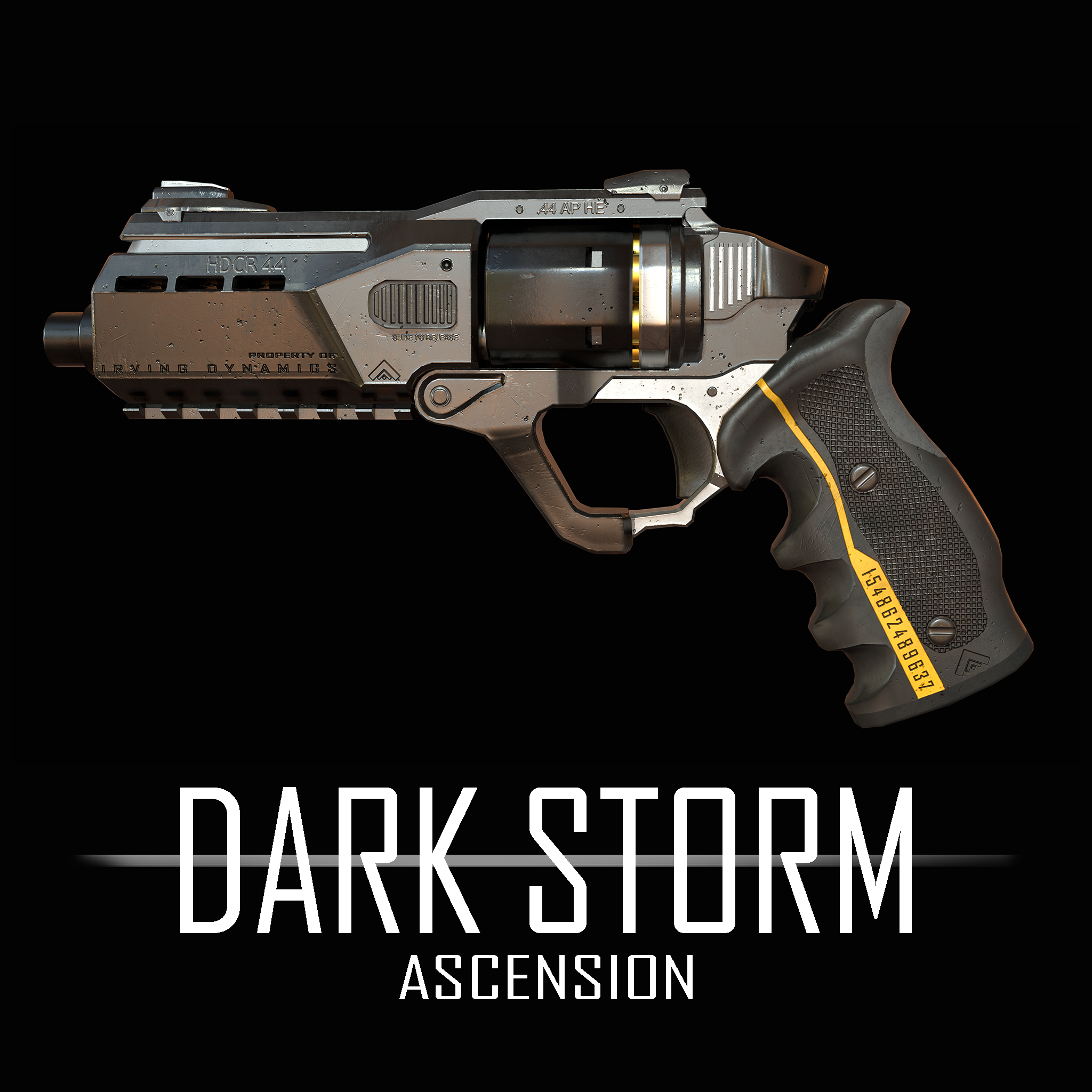 Dark Storm Ascension: Game Asset - Revolver HDCR 44 - Pistol