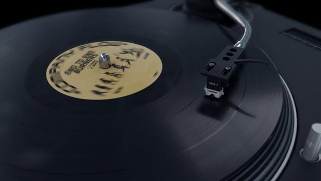"Technics Turntable & 12"" Record Animation"