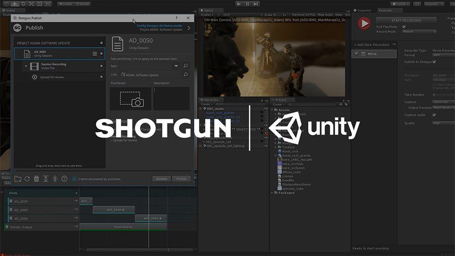 Unity & Autodesk | 2019年初发布全新Shotgun模板