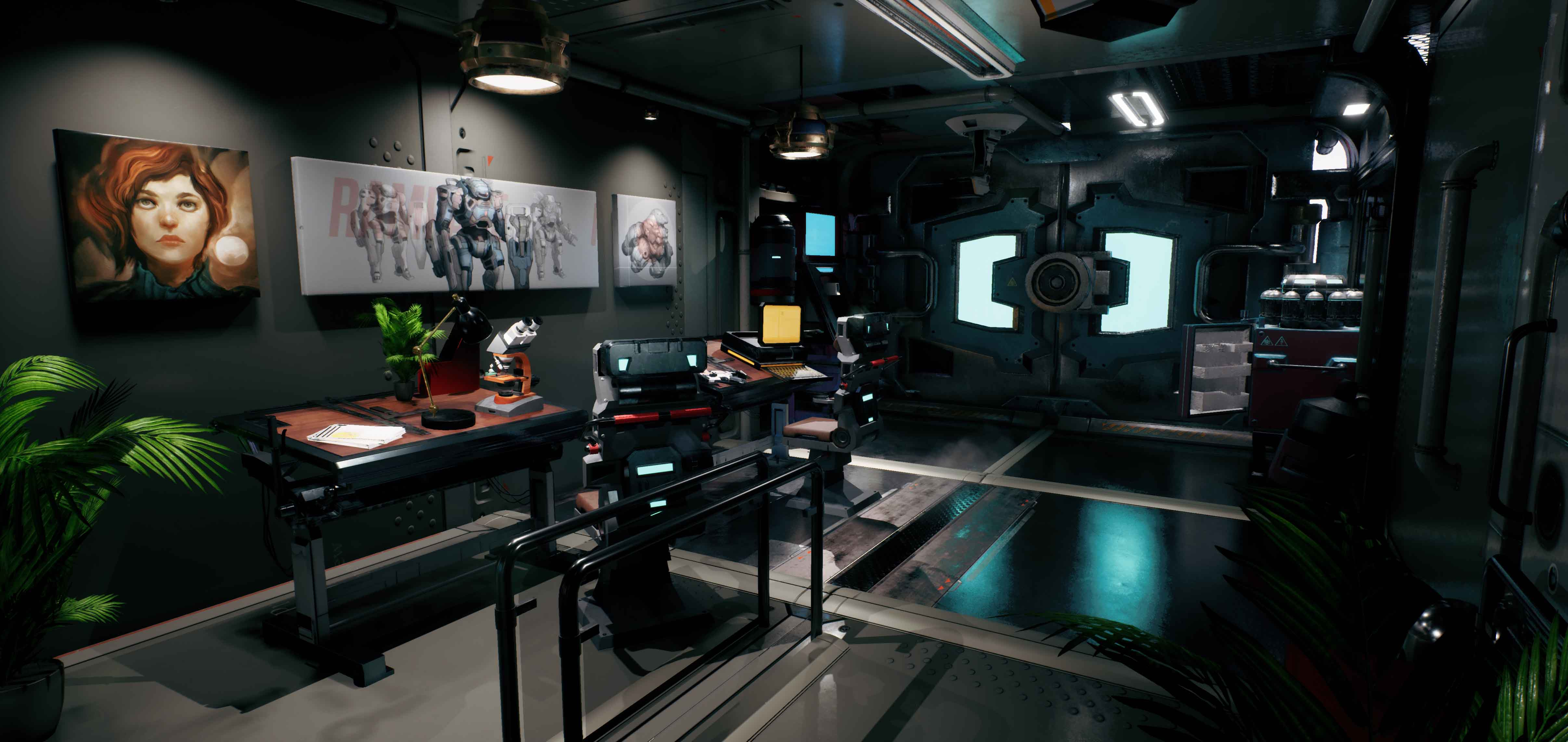 3D - Scifi Office