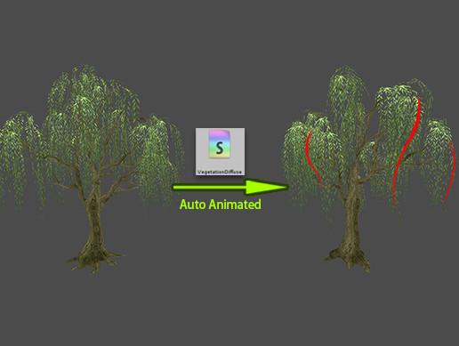 Animated Vegetation Shader
