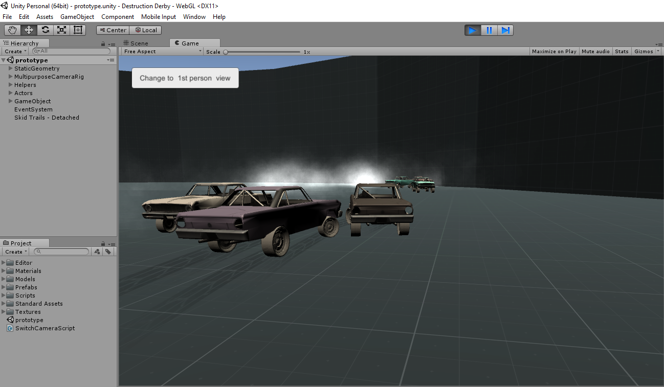 Destruction Derby - WebGL Prototype