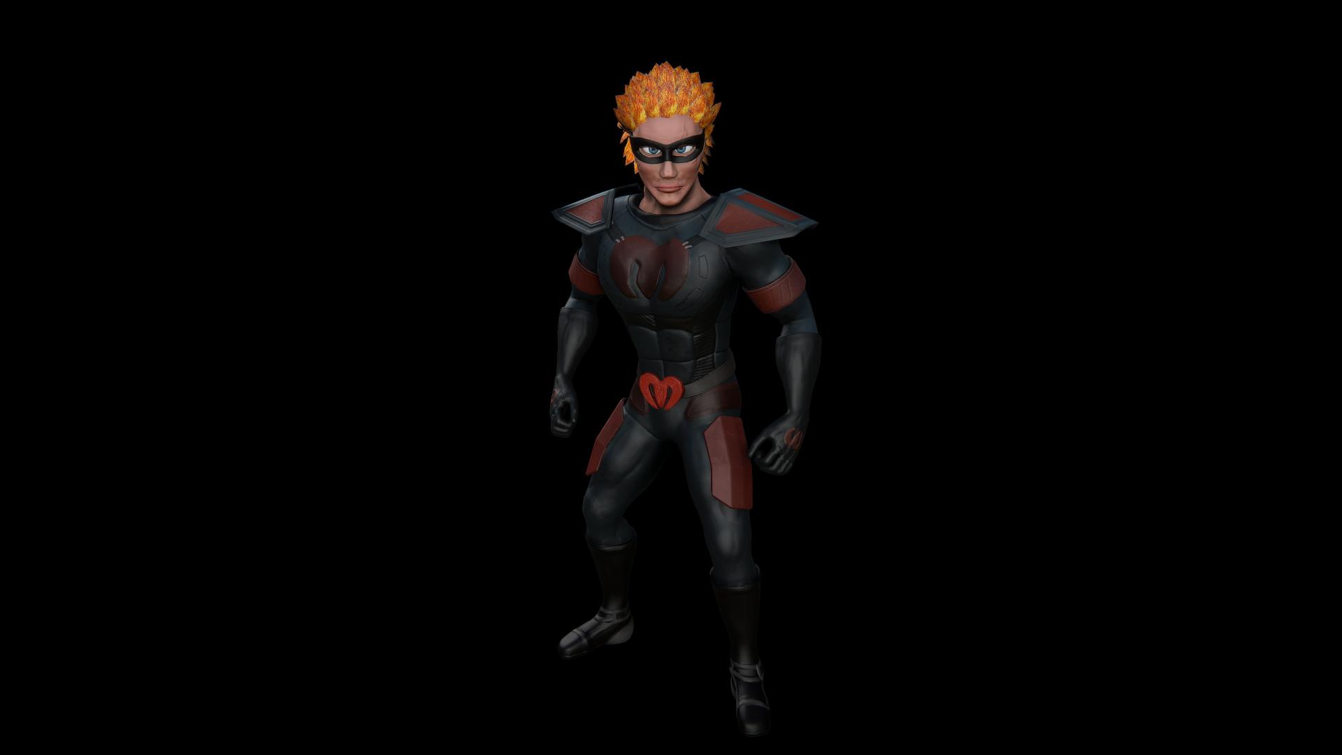 Superhero Rigged Model