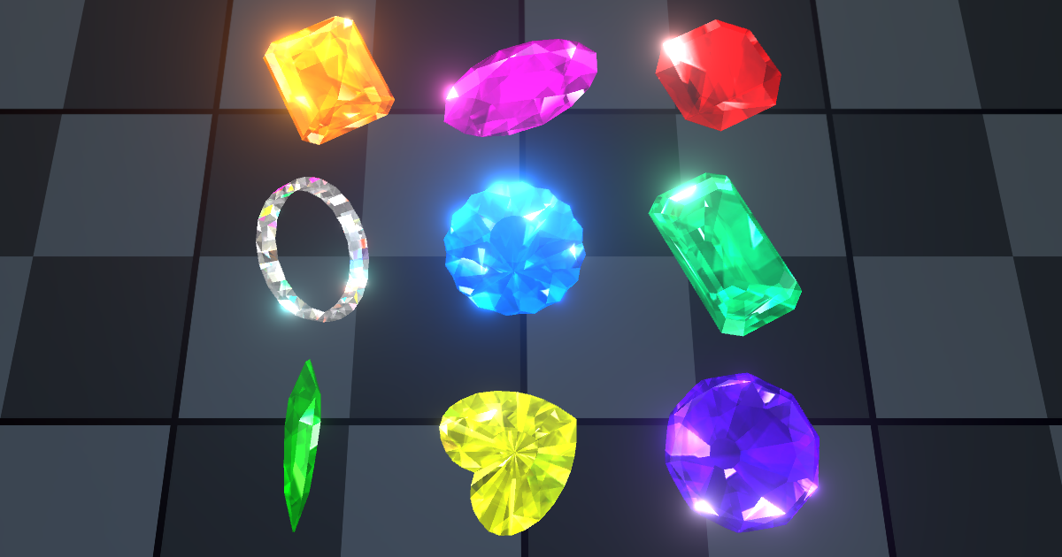 Magic Gems package for Unity Asset Store