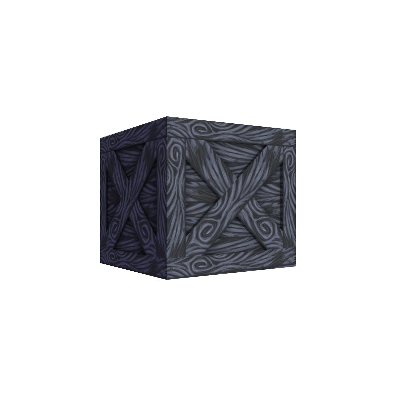 Game Asset - Grey Hand Painted Crate