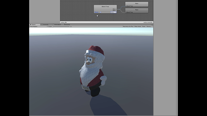 Santa character from Houdini to Unity