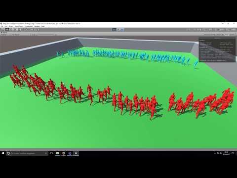 Continuum Crowds - Massive AIs Simulation