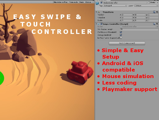 Easy Swipe & Touch Controller