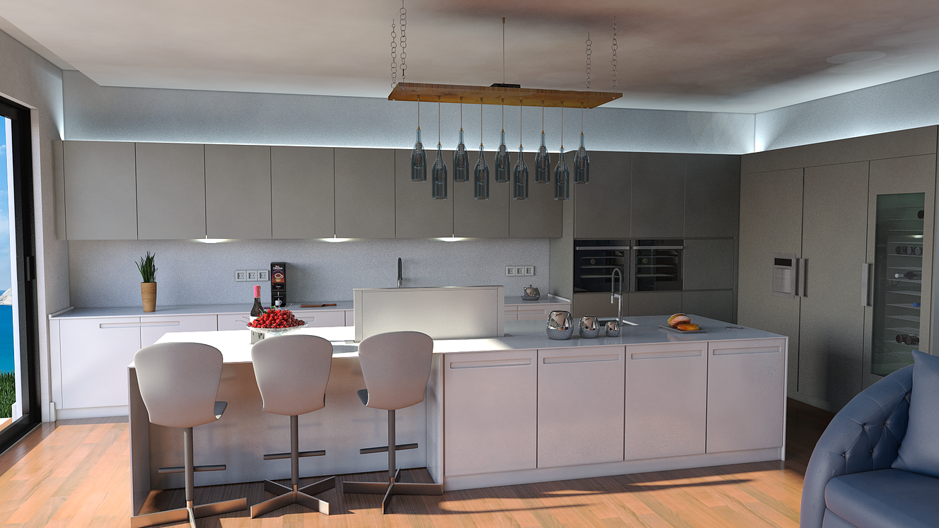 3D Luxury Kitchens for Danespan Quality Kitchens