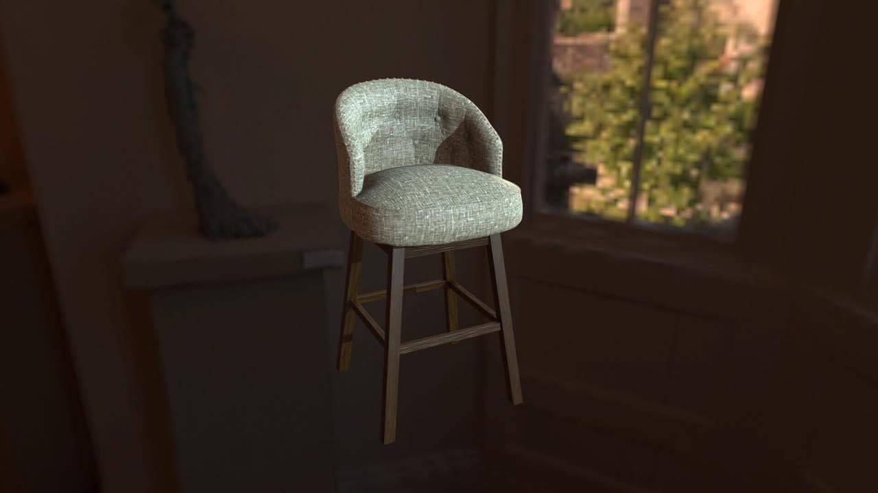 Medium poly chair for game