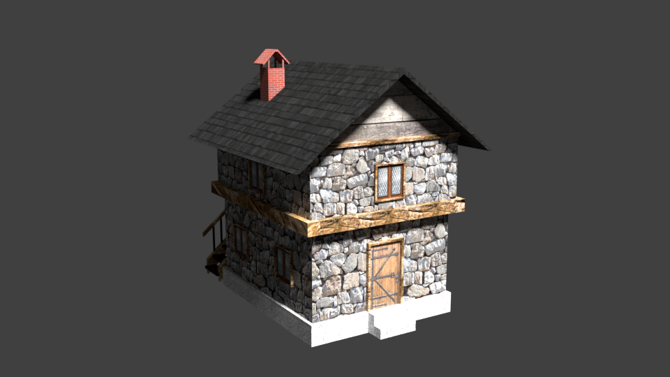 Medieval House Asset for Unity