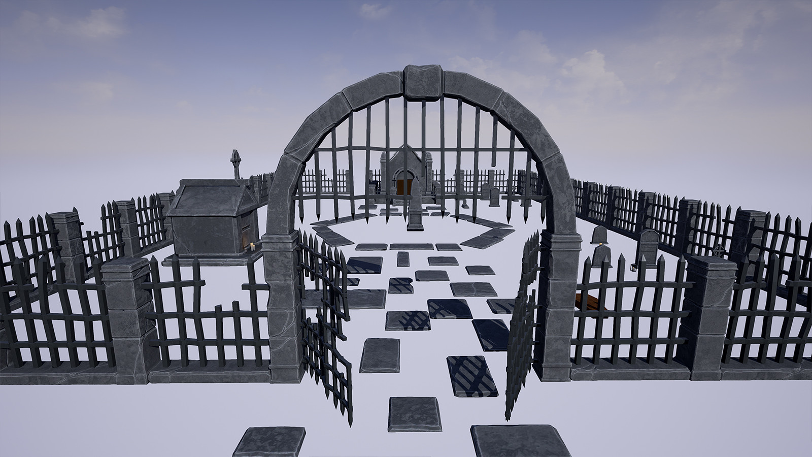 StylizedCemeteryPack (UE4 and Unity3d)