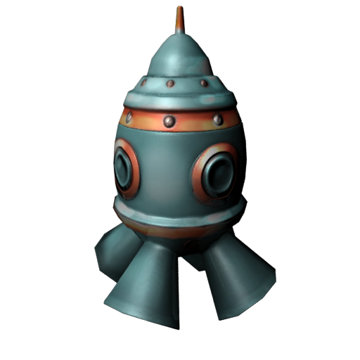 SpaceRokets for mobile games. LowPoly/
