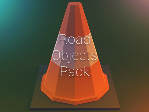 Low Poly Road Objects
