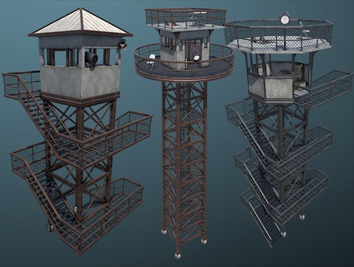 Modular Guard Tower Set