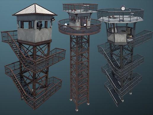 Modular Guard Tower Set