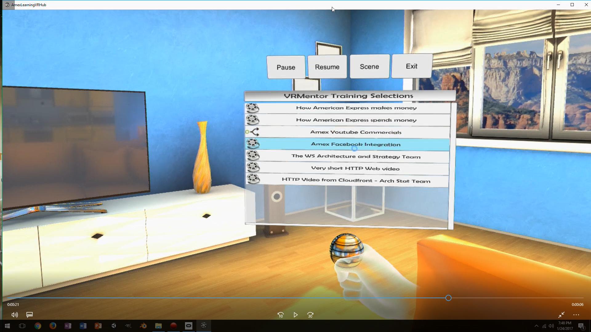 VRMentor (VR video training system)