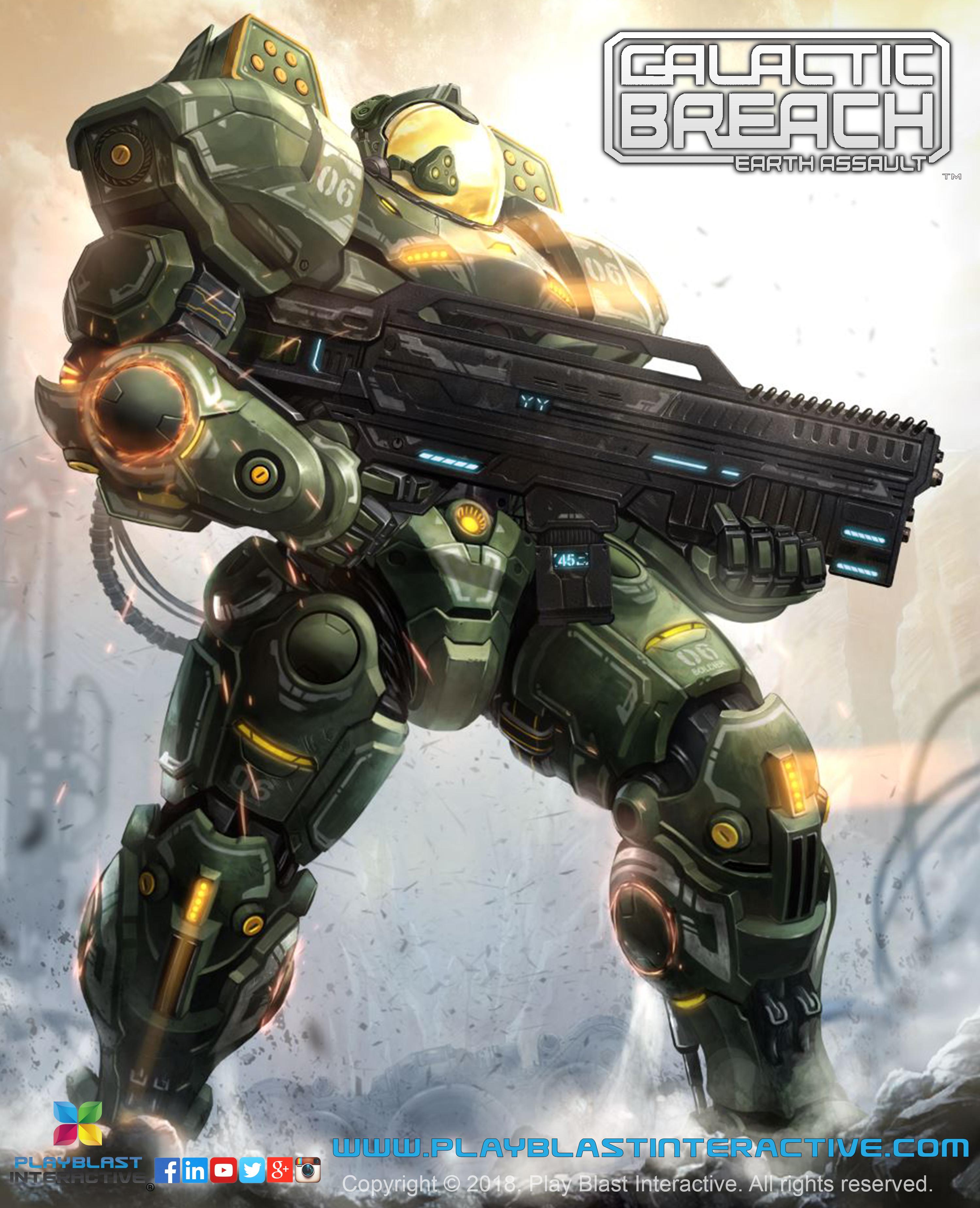 Galactic Breach: Earth Assault. Imperias Space Marine