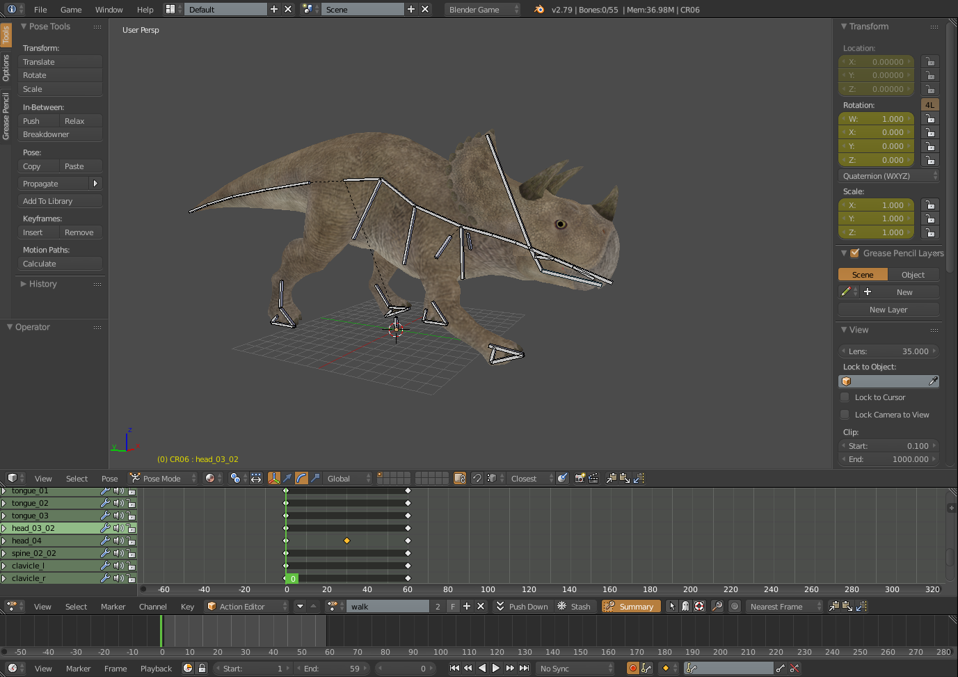 I going to make rigging and animate in blender