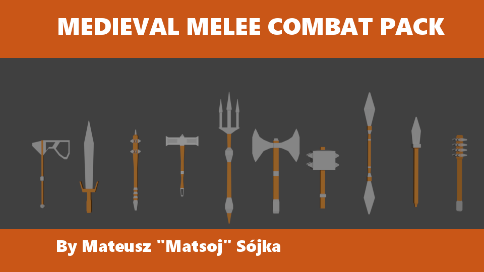 Lowpoly Medieval Melee Pack