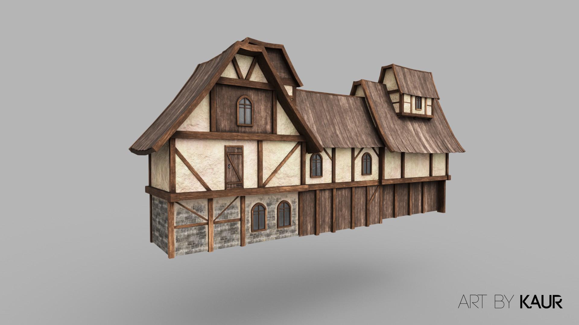 Medieval houses for Skyfront VR