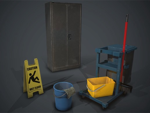 [PBR] Janitor Asset Pack 1
