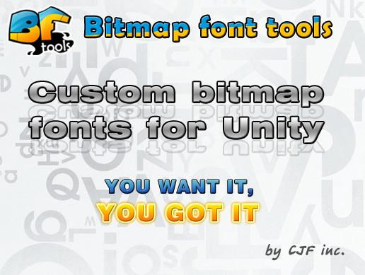 Bitmap font tools for Unity