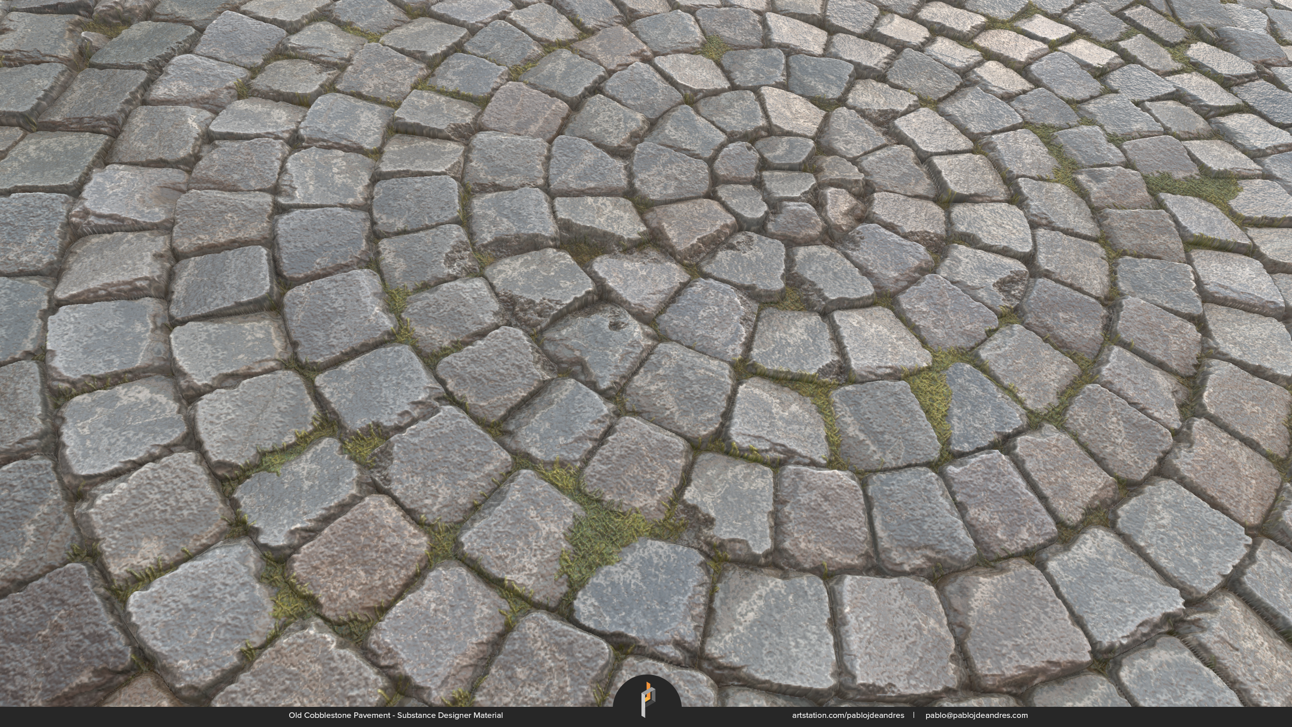 Old Cobblestone Pavement - Substance Designer Material