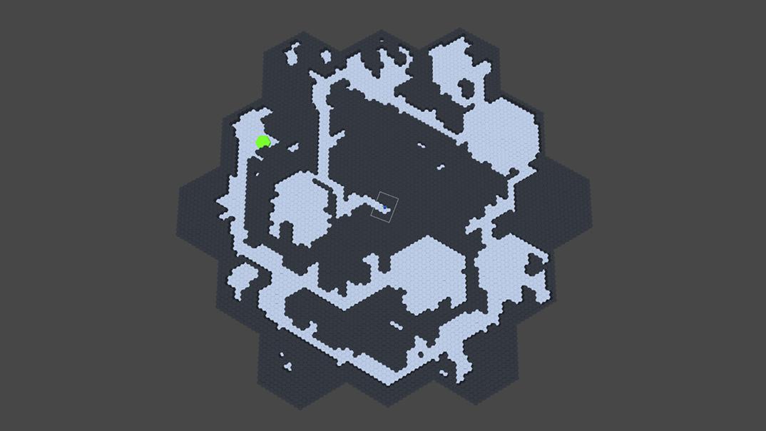 Hexagonal Dungeon Procedural Generation Prototype