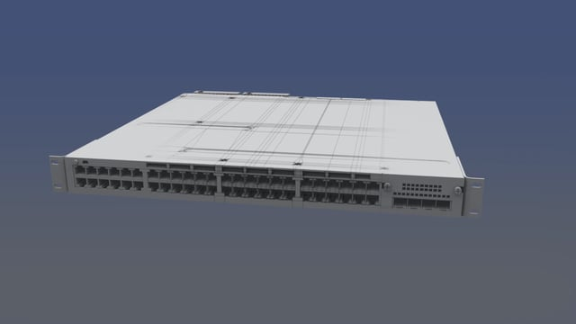 3D Model - Cisco Catalyst 3750-X Model