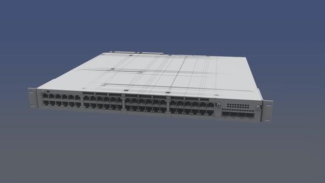 3D Model - Cisco Catalyst 3750-X Model