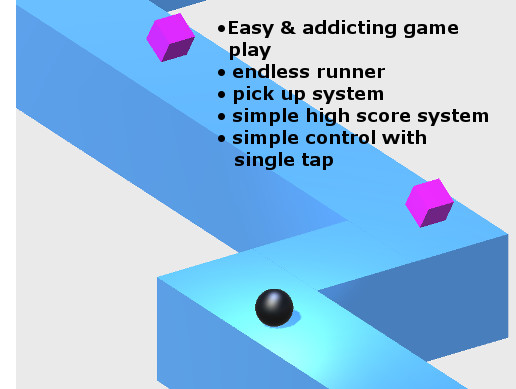 ZigZag Endless Runner - Complete Game Template