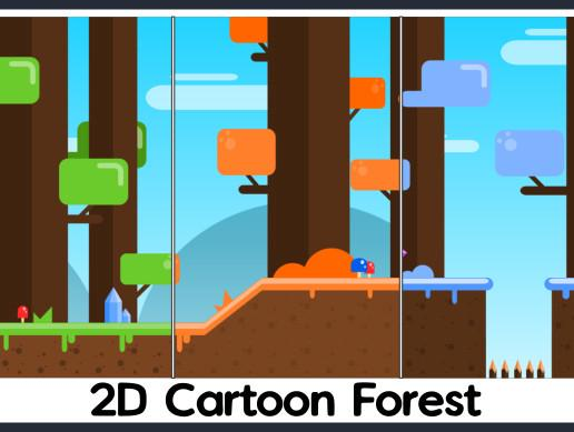 2D Cartoon Forest