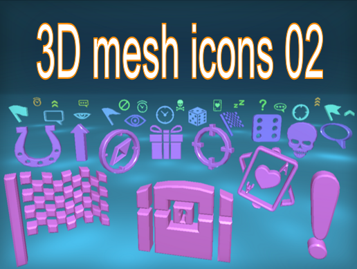 3D mesh icons 02