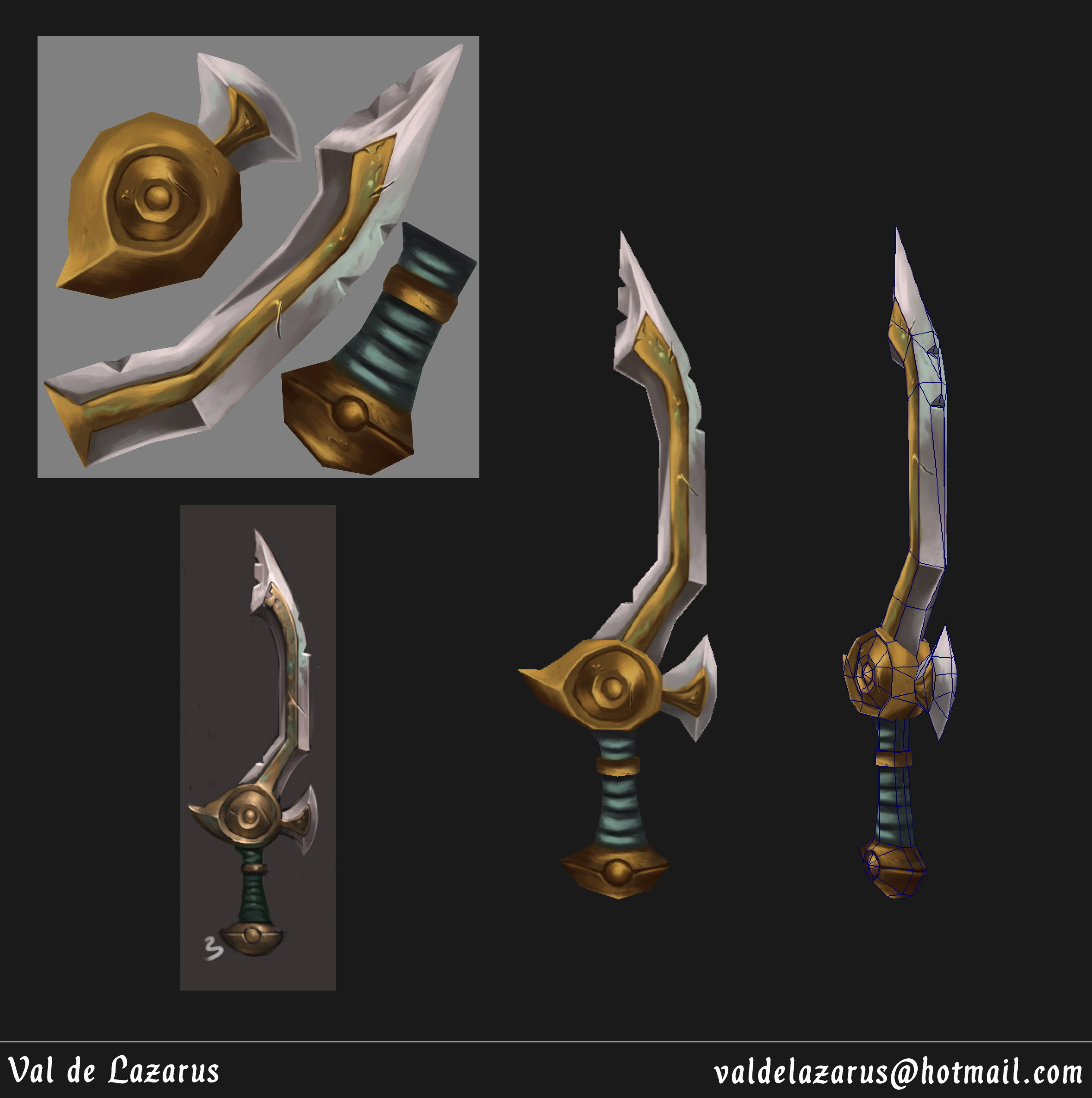 Hand-painted Sword