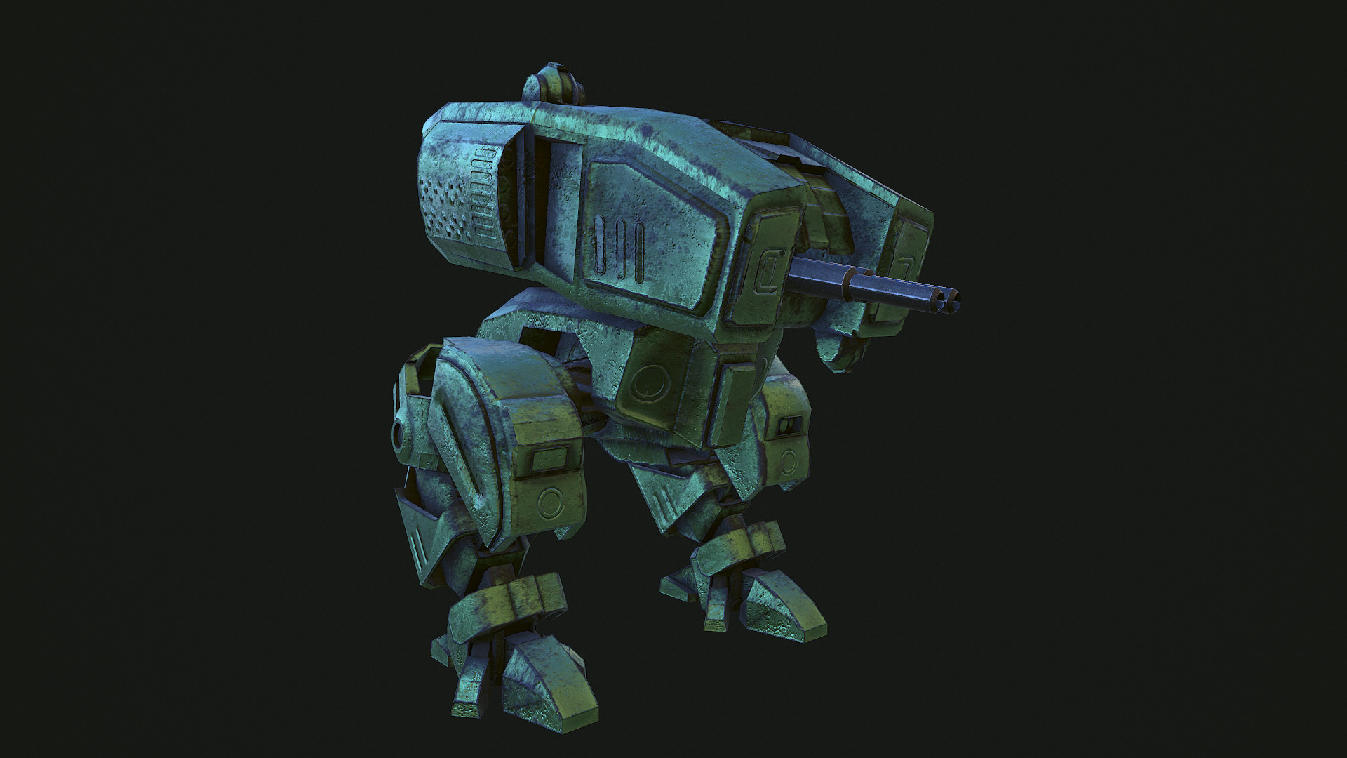 Mecha walker - game ready model