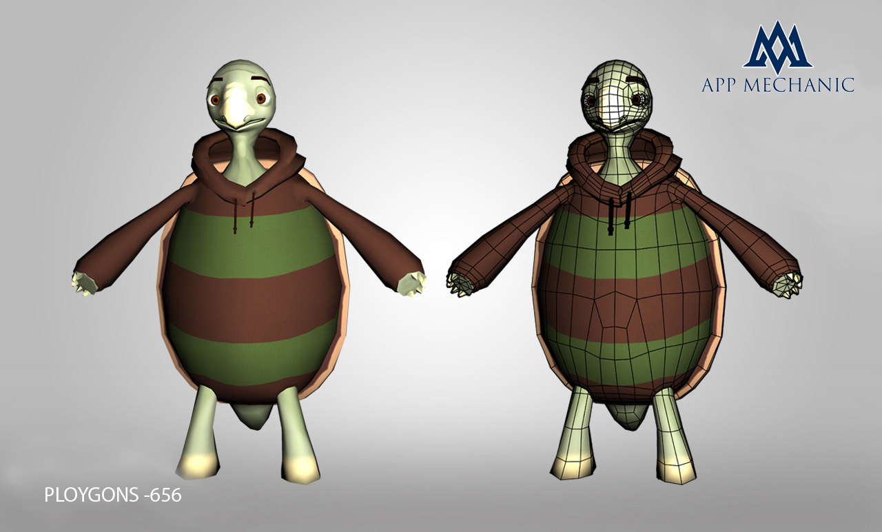 Turtle Low Poly 3D Model