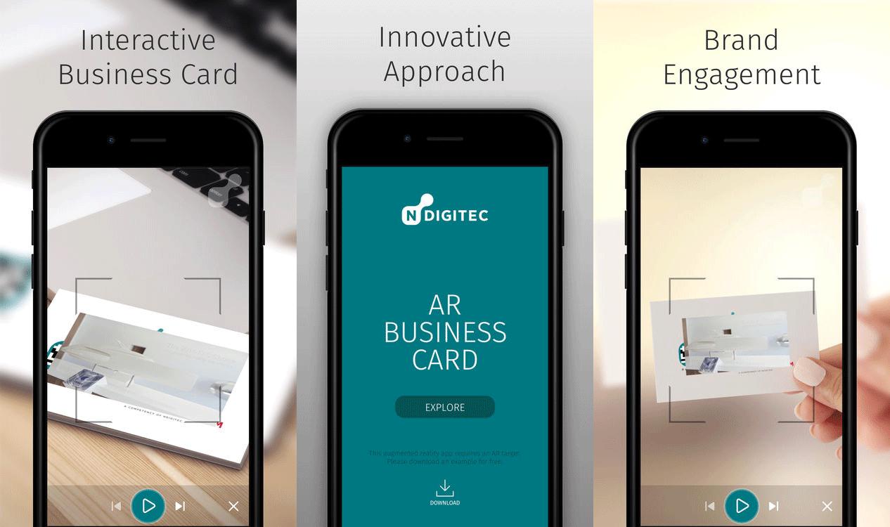 NDigitec AR Business Card - Unity Connect