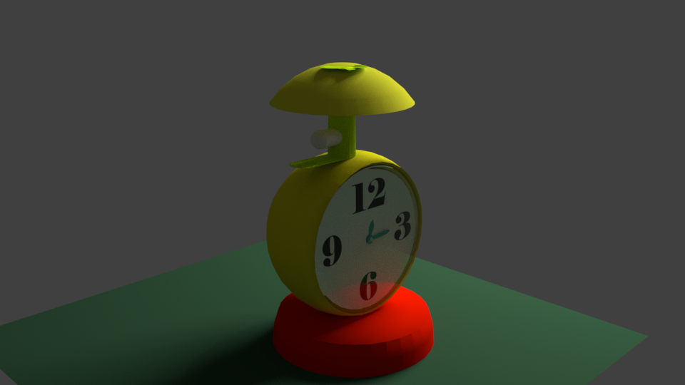 My Work for Modelling Alarm Clock using Blender