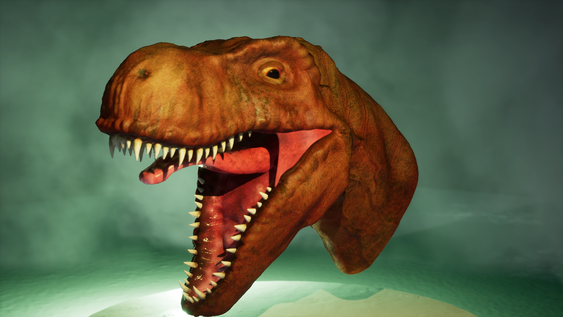 T-Rex Head sans feathers...