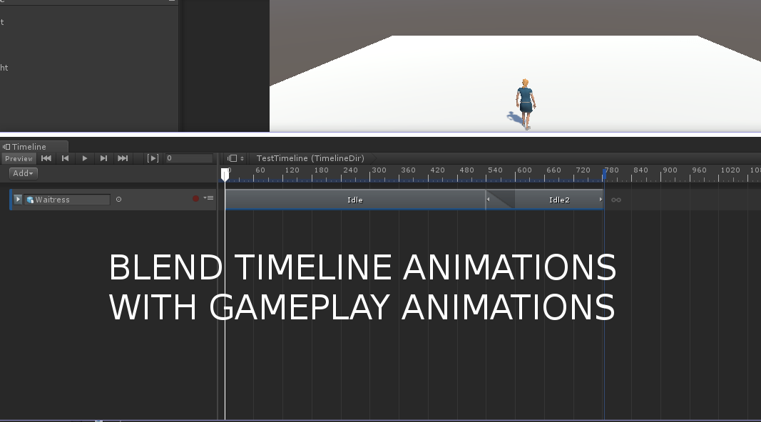 Blending Unity Timeline with Gameplay - Character's Animation