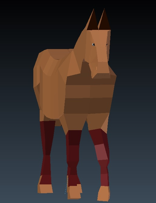 my Horse low Poly