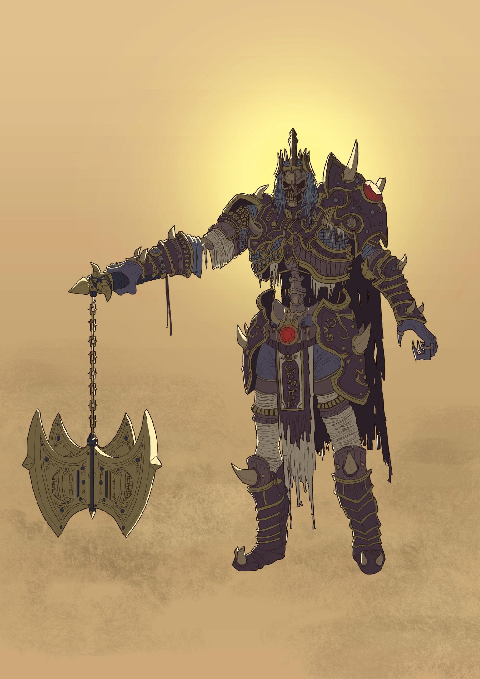 Leoric Skeleton King - Fan art