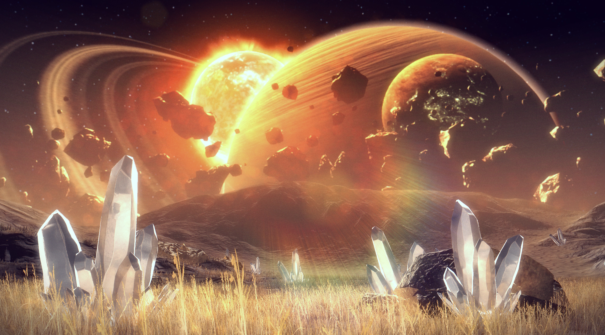 Alien world environment